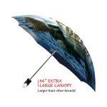 Elephants good quality folding rain umbrella with gift box