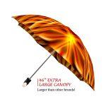 Fire good quality folding rain umbrella with gift box