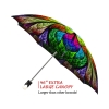 Floral Stained Glass good quality folding rain umbrella with gift box