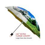 Four Seasons good quality folding rain umbrella with gift box