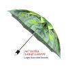 Green Flower good quality folding rain umbrella with gift box