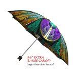 Kaleidoscope Stained Glass good quality folding rain umbrella with gift box