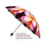 Magnolias good quality folding rain umbrella with gift box