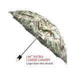 Money Collage good quality folding rain umbrella with gift box