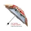 Moscow good quality folding rain umbrella with gift box