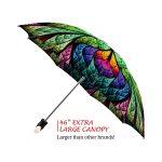 Peacock good quality folding rain umbrella with gift box
