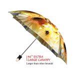Sunflower Wedding good quality folding rain umbrella with gift box