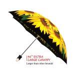 Sunflowers good quality folding rain umbrella with gift box