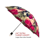 Vintage Roses good quality folding rain umbrella with gift box