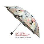 White Roses good quality folding rain umbrella with gift box