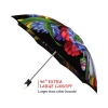 Wild Poppies good quality folding rain umbrella with gift box