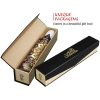 Gold Flower high quality unique umbrella in gift box_automatic