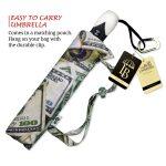Money Collage large canopy small folding umbrella