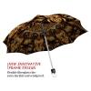 Gold Flower stylish art auto open umbrella