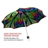 Peacock stylish art auto open umbrella