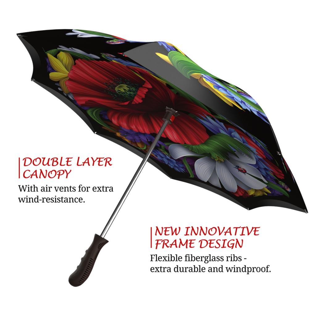 Wild Poppies Upside down umbrella