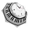 Designer Umbrella for Women and Men - Windproof Auto Open Close - Stylish Clock Umbrella Black and White