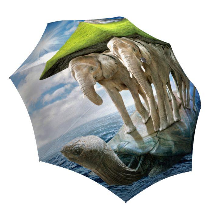 Fashion Umbrella Lightweight Rain/Sun - Elephant Small Folding Umbrella with Turtle