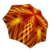 Orange Umbrella Fire Abstract Art Design - Folding Durable Strong Umbrella with Sleeve