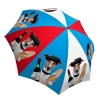 Designer Umbrella Funny Gift for Men and Women - Compact Portable Umbrella - French Dog Umbrella Red Blue