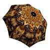 Rain Umbrella windproof compact - Gold Floral Umbrella Art for Women