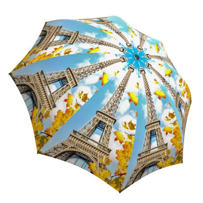 Eiffel Tower Umbrella Paris Design - Small Folding Umbrella
