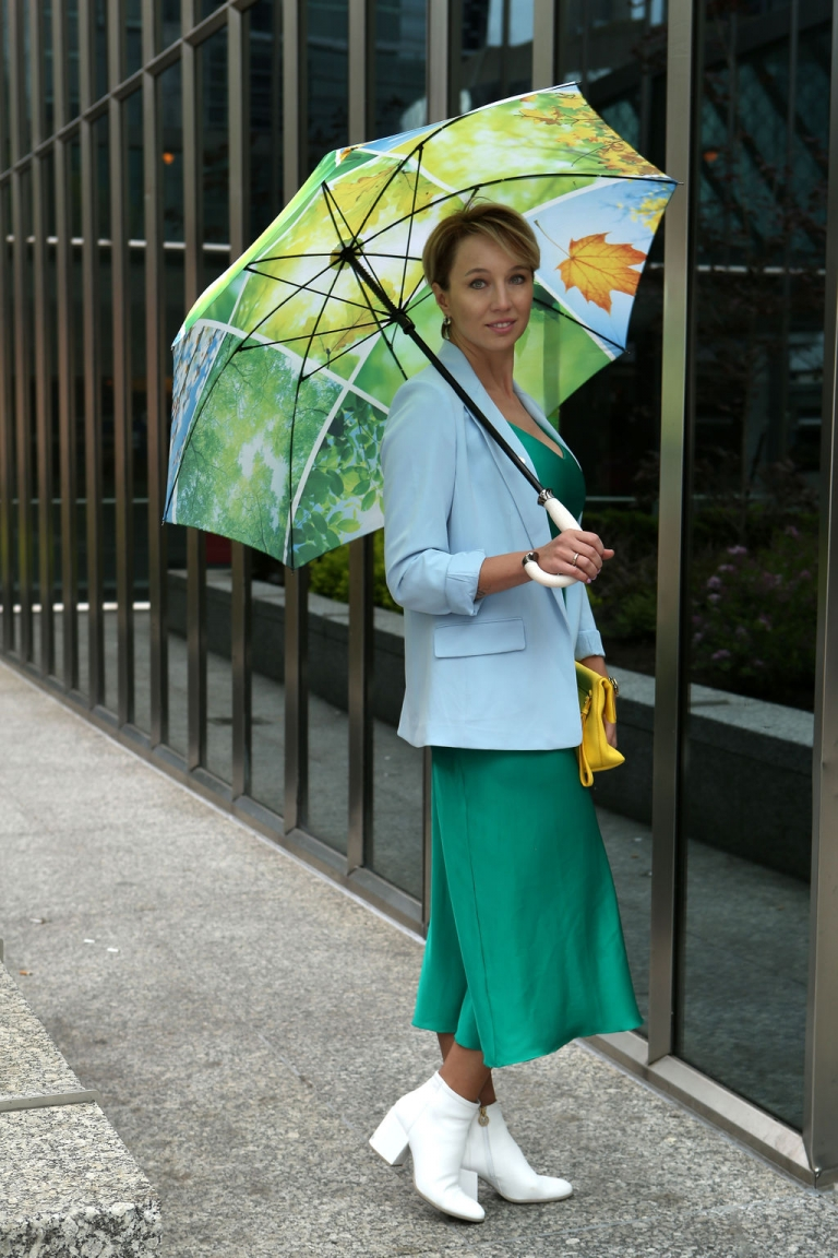 Windproof umbrella for women