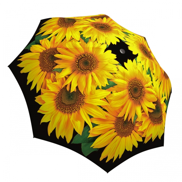 Sunflowers Umbrella Windproof Compact Auto Open Close - Brand Umbrella for Women