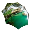Lightweight Portable Rain Umbrella - Nature Design Green Umbrella Waterfall Thailand