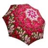 Art Floral Umbrella for Women - Compact Automatic Rain Umbrella Tulips Design