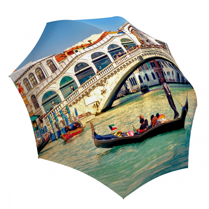 Rain Umbrella windproof - Compact Automatic Rain Umbrella Venice Italy Design