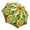 Lightweight Windproof Travel Umbrella with Fruits Design - Compact Portable Rain Umbrella