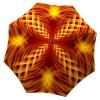 Orange Umbrella Fire Abstract Art Design - best durable umbrellas