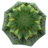 Unique Gift Umbrella Green Flower Design - Folding Colorful Umbrella with Sleeve - best gift on mothers day suggestion