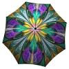 Unique Gift Umbrella Kaleidoscope Design - Folding Colorful Stained Glass Umbrella with Sleeve - best luxury umbrella