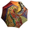 Compact Automatic Rain Umbrella Klimt Design - Designer Umbrella Windproof Auto Open Close - best large umbrella