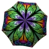 Brand Umbrella Women - Lightweight Portable Rain Umbrella Stained Glass - Unique Gift Art Purple Umbrella Peacock Design