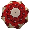 Floral Umbrella for Women - Compact Automatic Flower Umbrella Red Roses Design Vintage Umbrella - best umbrellas for wind