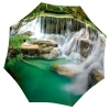 Nature Design Green Umbrella Waterfall Thailand - Folding Colorful Umbrella with Sleeve - best retractable umbrella