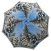 Windproof Umbrella Compact for Travel - Unique Gift Art Umbrella Winter Design - Folding White and Blue Umbrella - big beautiful unique umbrella