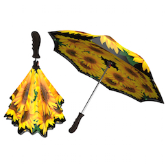 Sunflowers Double layer inverted umbrella reverse