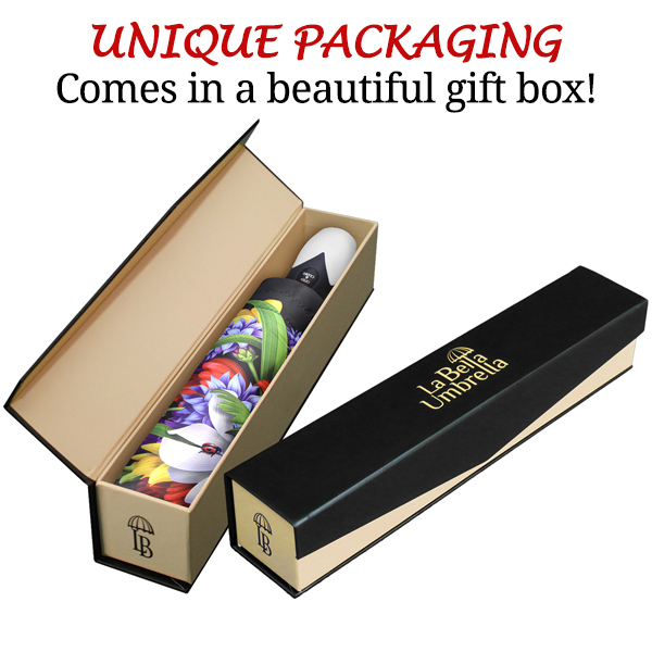 Automatic high quality unique umbrella in gift box poppies