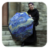 Van Gogh Starry-Night-Umbrella - Blue art umbrella for rain by La Bella Umbrella