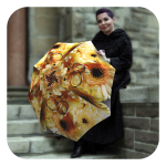 Sunflower-Wedding-Umbrella - Beautiful Floral designer umbrella by La Bella Umbrella