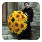 Sunflowers Beautiful floral Umbrella - Fashion umbrellas for rain by La Bella Umbrella