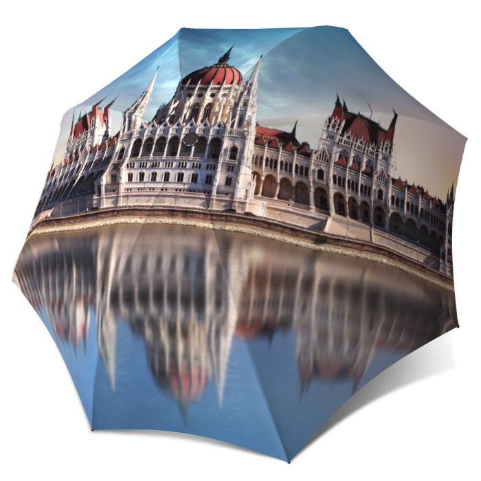 European umbrella Art Umbrella for Women compact Budapest