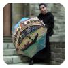 Venice Italy travel automatic open close compact umbrella by La Bella Umbrella