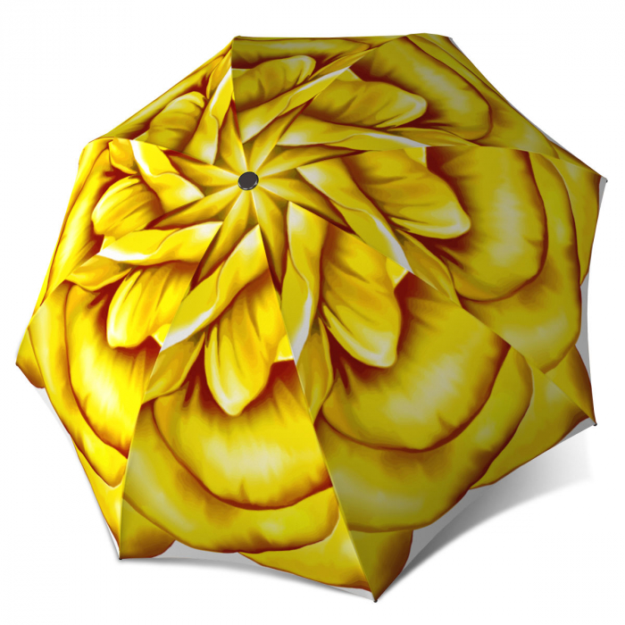 Designer Floral Umbrella for Women Cute Yellow Flower Umbrella Rose Design