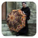 Rome Fancy travel portable folding Umbrella - Italian designer umbrella by La Bella Umbrella