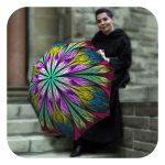 Dragonfly-Stained-Glass-Umbrella - Vintage high quality rain umbrella by La Bella Umbrella